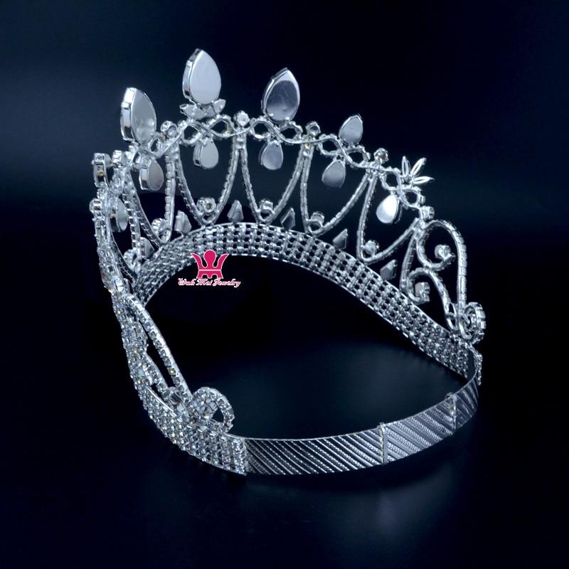 Короны оригинальный горный хрусталь кристалл Mrs красоты конкурса корона свадьбы, памятные события Свадебные аксессуары для волос стиль кор... - 4
