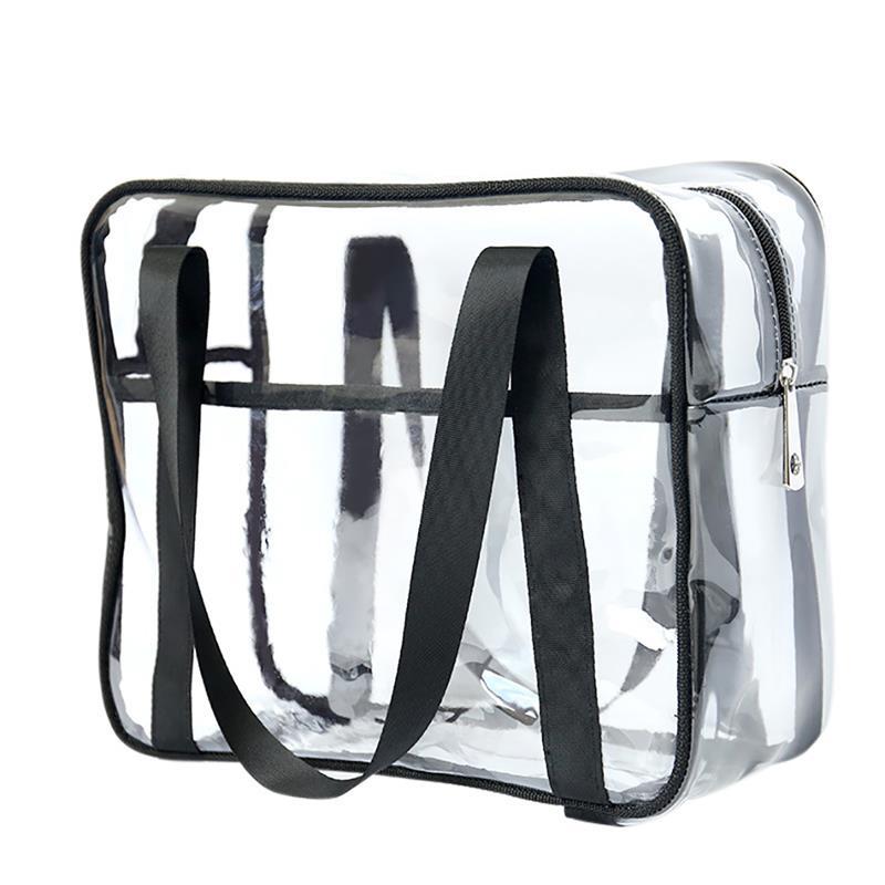 Large Capacity Transparent Beauty Wash Cosmetic Bags Travel Female Tote Clear PVC Women Organizer Makeup Bag Handbag