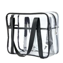 Large Capacity Transparent Beauty Wash Cosmetic Bags Travel Female Tote Clear PV