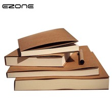 цены EZONE Creative Notebook Blank Pages Planner Brown/Beige Paper Sketch Note Book Scrapbook Travel Diary School Office Supplies