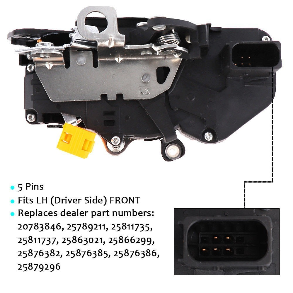 Door Lock Actuator Latch Front Left For GMC Yukon For Chevy Tahoe For Cadillac Escalade 25876382 25876385 25876386 25879296-in Door Lock Protective Cover from Automobiles & Motorcycles    1