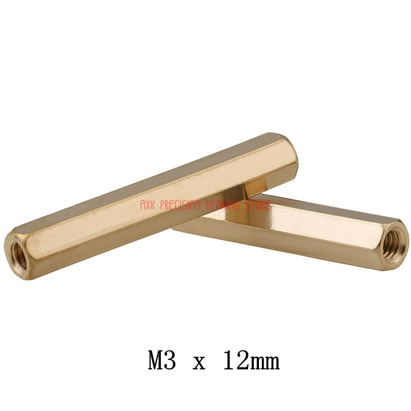 2019 Promotion Tornillos Para Madera Drywall 20pcs/lot M3x <font><b>12mm</b></font> Female Thread Brass Standoff Spacer Spacing <font><b>Screws</b></font> Hex Threaded image