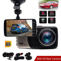 Car Van Dash DVR Camera Recorder New Dual Lens Full HD 1080P 4 IPS Front+Rear Night Vision Video Recorder Parking Monitor