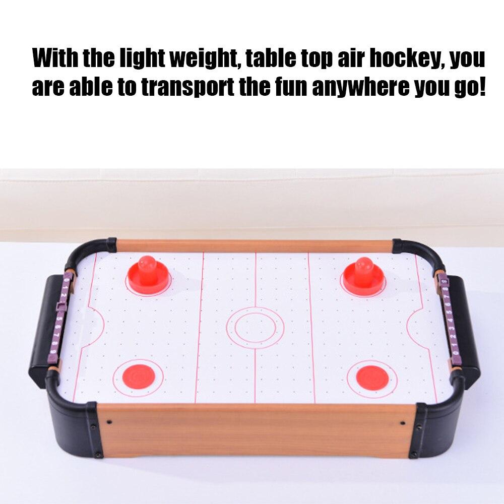 Jeux de table Mini Table Top Air Hockey jeu pousseurs rondelles famille noël cadeau Arcade jouet jeu jeu de balle - 3