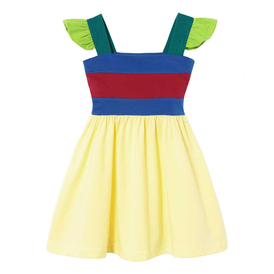 Для маленьких девочек Летняя повседневная одежда Минни Мулан Wonder Woman Белоснежка, Рапунцель Тинкер Белл Жасмин Принцесса Елена Платья для вечеринок