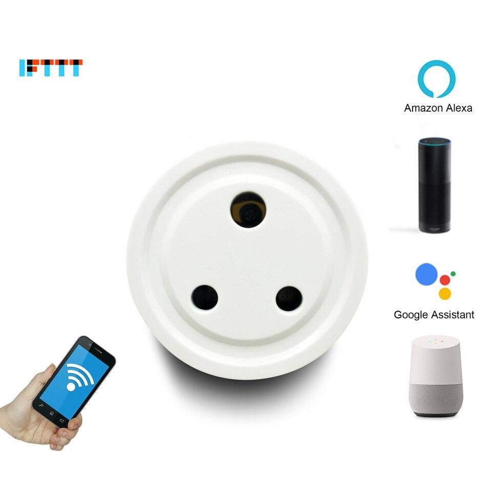 India Round 3 Pins Wi-Fi WiFi Smart Socket Outlet Plug Adapter Adaptor For  Amazon Alexa Echo Google Assistant Homekit Mini IFTTT