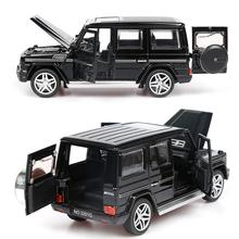 1:32 Alloy Pull Back Model Car Model Toy Sound Light Pull Back Toy Car For G65 SUV AMG Toys For Boys Children Gift hot children s toy tractor container storage box with pull back metal car model set toys for boys birthday gift kids toy store
