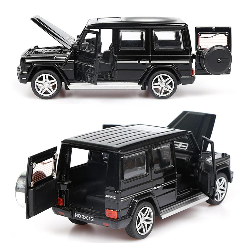1:32 Alloy Pull Back <font><b>Model</b></font> <font><b>Car</b></font> <font><b>Model</b></font> Toy Sound Light Pull Back Toy <font><b>Car</b></font> For G65 SUV AMG Toys For Boys Children Gift image