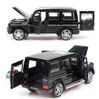 1:32 Alloy Pull Back Model Car Model Toy Sound Light Pull Back Toy Car For G65 SUV AMG Toys For Boys Children Gift