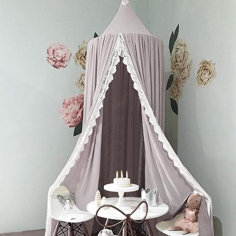 Frank Cotton Baby Room Decoration Balls Mosquito Net Kids Bed Curtain Canopy Round Crib Netting Tent Photography Props Baldachin Cheap Sales Baby Bedding