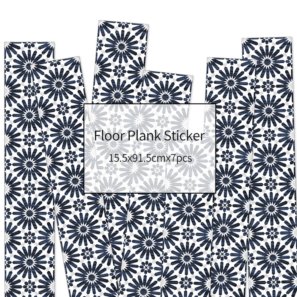 HXM 7pcs Floor stickers DIY Self adhesive Wall Tile Stickers Wood Grain Frosted Film Wallpaper Kitchen Living Room Decor #8