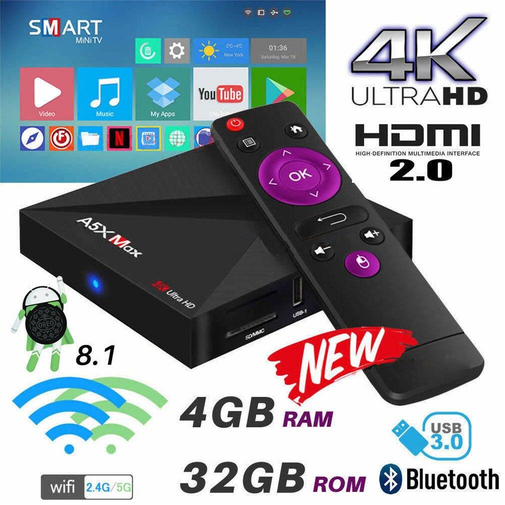 2019 Android 8 1 Wifi 4GB RAM Smart TV BOX 18 0 OCTA Core Media Player