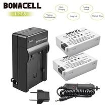 Bonacell LP-E8 LP E8 LPE8 Камера Батарея+ Зарядное устройство для цифровой однообъективной зеркальной камеры Canon EOS 550D 600D 650D 700D поцелуй X4 X5 X6i X7i Rebel T2i T3i T4i T5 L50