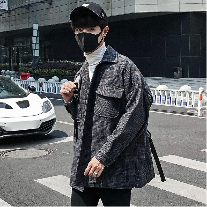 Lâche M Homme Casual Automne Grey Dark Outwear Bombardier Streetwear Hiver Hommes Pilote khaki Vêtements Male Veste 2xl Plaid Rétro Manteau Nouvelle Mode 0qSAxT0w