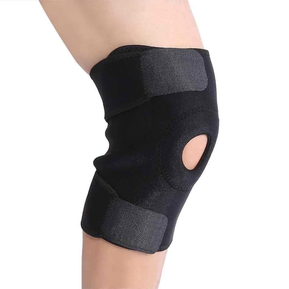 1PCs Regolabile Patella Supporto Cintura Leg Knee Pad Brace trasporto Fastener Sporting Basket Ginocchiera di Fitness Protezione del Ginocchio Fasciatura del Nastro