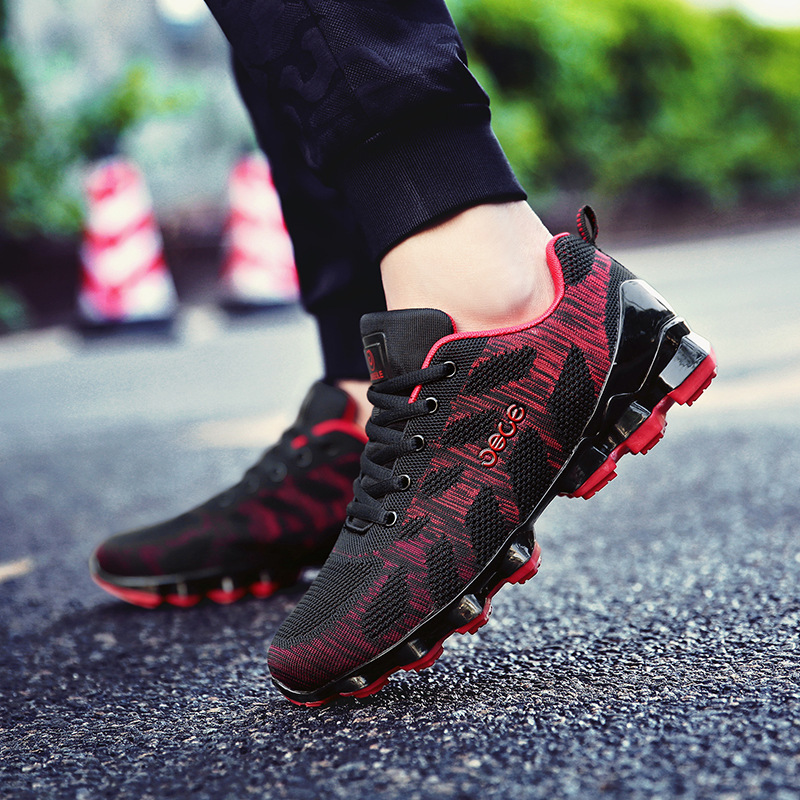 Mouche Chaussures Tissage Up Sneakers Noir Hommes Homme 3944 Étudiants Chaussure Tous Dentelle Nouveau Mâle red Black Les Automne Casual Mode xWrdeCBo
