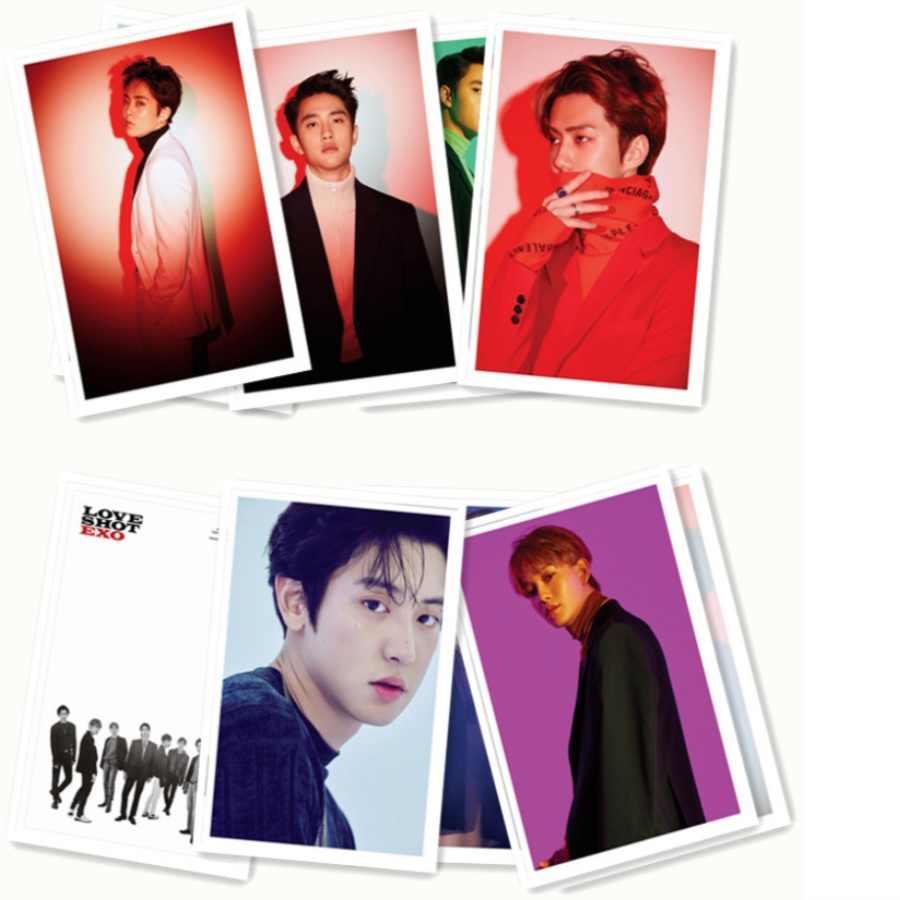 Kpop EXO Love Shot Polaroid LOMO Kartu Foto Album Baru Chanyeol Baekhyun Pas Foto Kartu 30.jpg q50