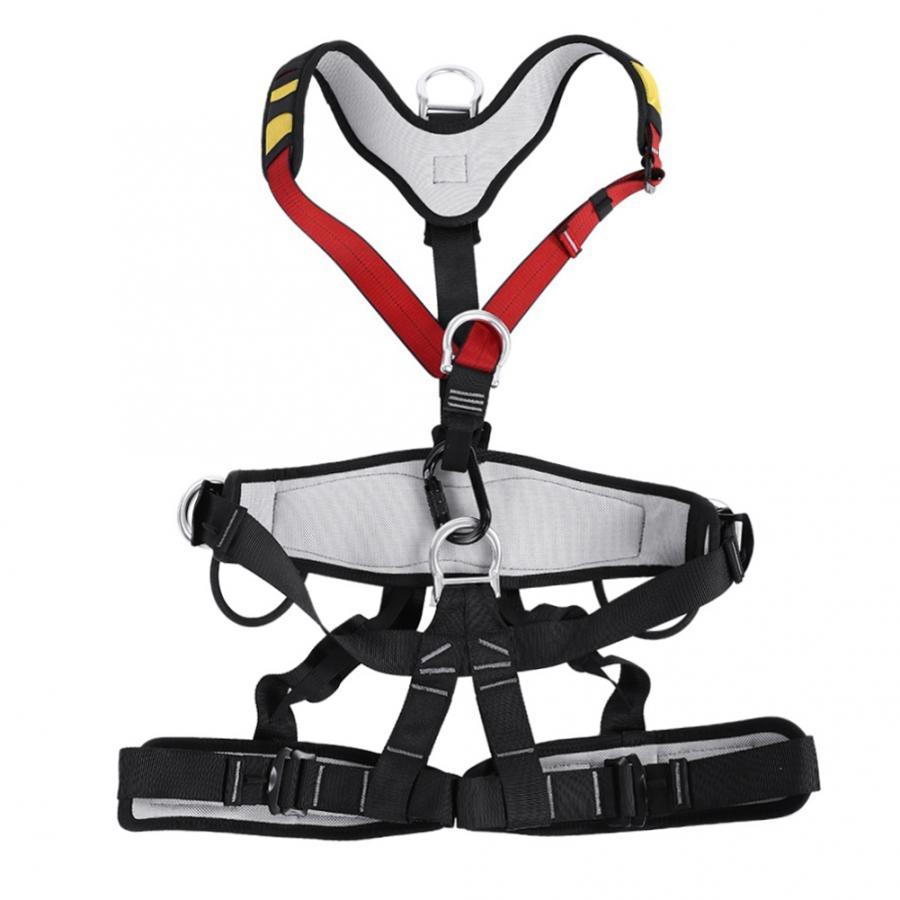 Safety Belt Aerial Work Climbing Harness Safety Belt Adjustable Rescue Equipment with waist leg ringOutdoor for rock climbing belt