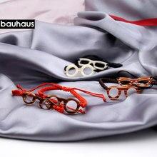 Bauhaus 2017 nova moda elegante múltiplo colorido algodão cordão feito à mão malha pulseira itália design
