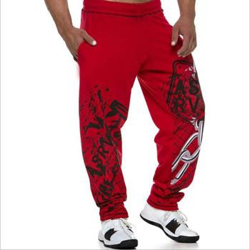 Muscle męskie spodnie dresowe trening Fitness spodnie dresowe dla joggerów spadek bawełniane spodnie dresowe moda Street spodnie elastyczne dla mężczyzn tanie i dobre opinie Proste CN (pochodzenie) Mieszkanie NONE REGULAR 28 - 32 Pełna długość K-87 Na co dzień średniej wielkości Sukno Troczek