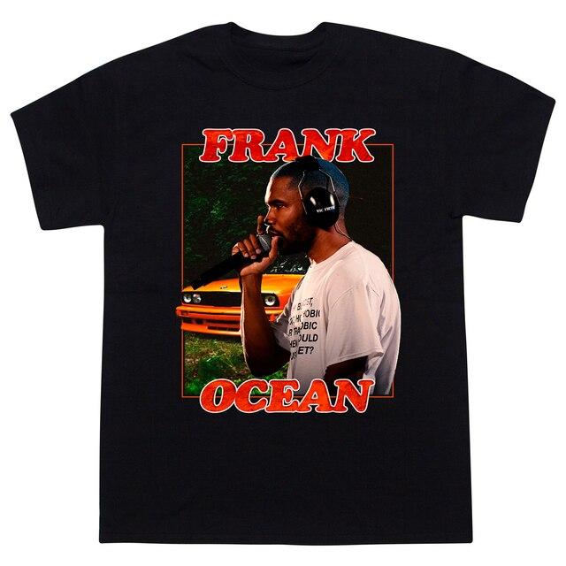 Горячая Распродажа рисунок Frank Ocean светлые футболка Для мужчин-хип-хоп рэп футболка с коротким рукавом 100% хлопок Для мужчин тройник Прохладный печати уличная