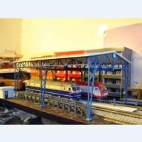 1/87 Model Train Ho Scale Frame Garage Diy Kit Assemble Architectural Model Sand Table Model Plastic Materials Free Shippin