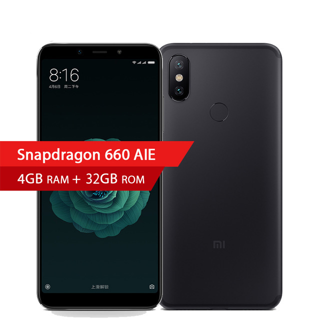 "Xiaomi A2 4GB 32GB Global Version Mi A2 smartphone Snapdragon 660 Octa Core 3010mAh 5.99"" FHD+ 20MP 12MP Full Screen Cell Phone"