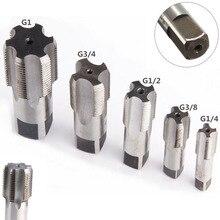G1/8 1/4 3/8 1/2 3/4 1 BSP HSS Kegel Rohr Tap Metall Schraube Gewinde Schneiden Werkzeug