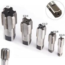 G1/8 1/4 3/8 1/2 3/4 1 BSP HSS konik boru tapası Metal vida diş kesme aleti