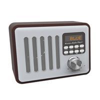 New Retro Style Wooden Bluetooth Speaker Multifunctional Plug Card USB Flash Drive Player Connecting Mobile Phone Digital Radio