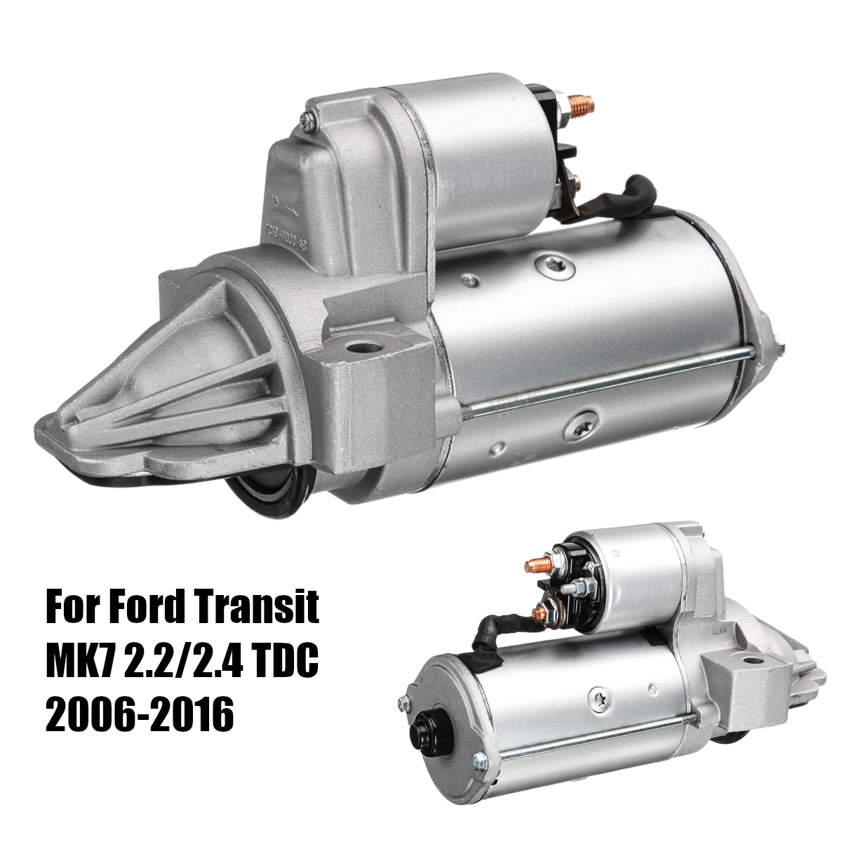 Car Electric Starter Motor 0001109205 0001109305 For FORD TRANSIT MK7 2.2/2.4 TDC 2006-2016 dpx 2 s zs 14 vibration eco friendly transit 72v3000w electric horizon large car electric bicycle