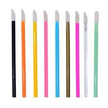 50 Pcs/pack Disposable Lip Brush Makeup Brushes Pen Lipstick Mascara Wands Brush Cleaning Eyelash Cosmetic Brush Applicators