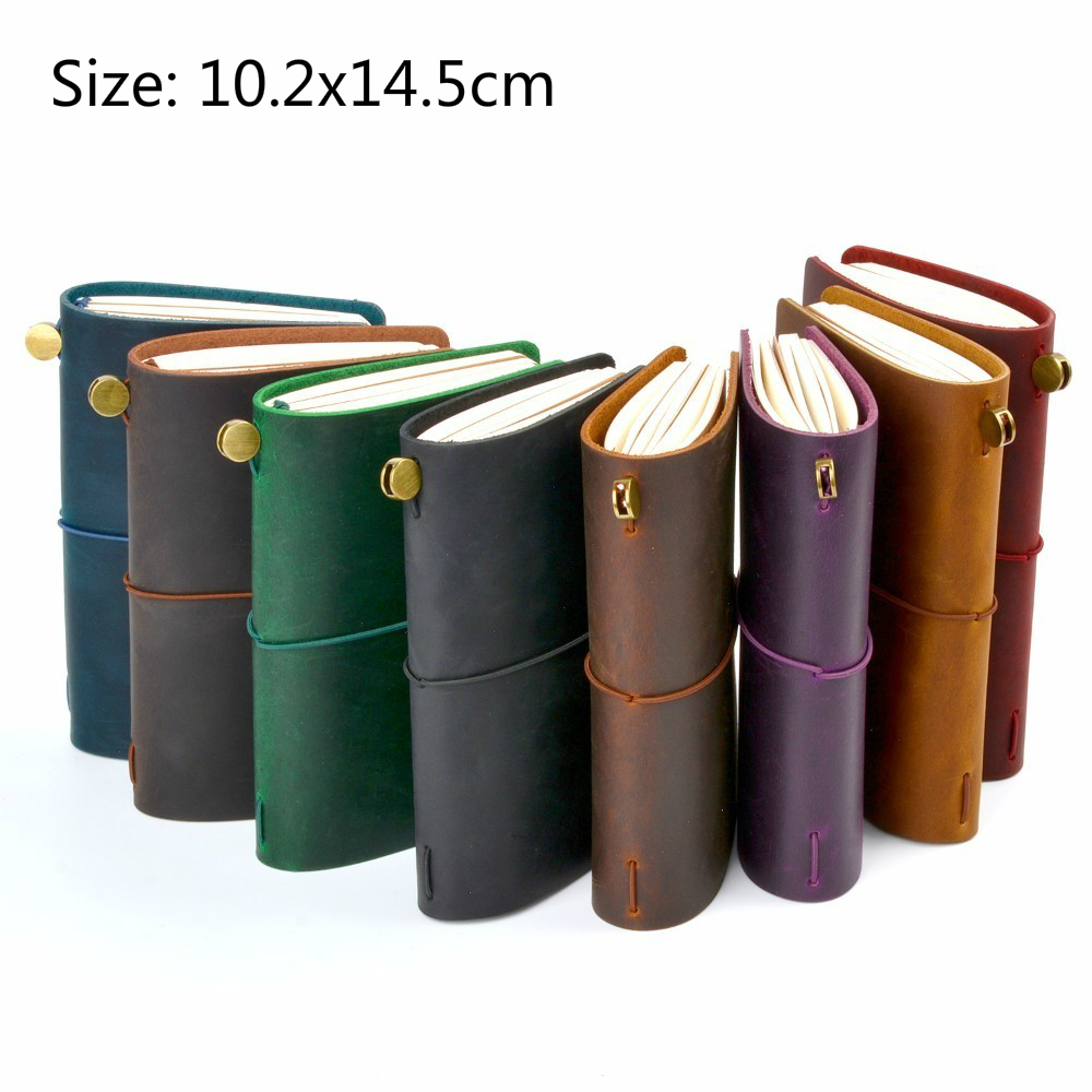 Image 5 - New Arrivals Field Notes Journal Cover Genuine Leather Notebook Planner Handmade Travel Agenda Pocket Diary Vintage StationeryNotebooks   -
