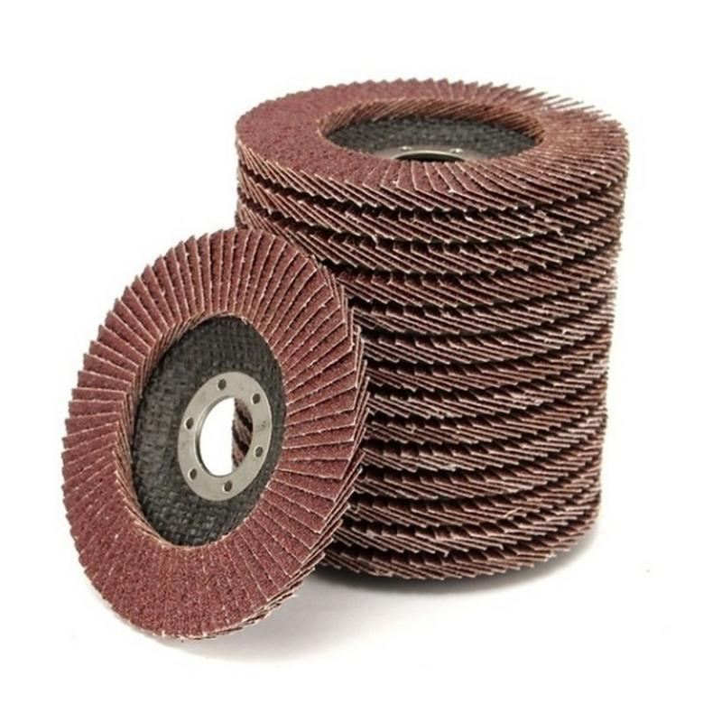 1PC 40/60/80/120 Grit Grinding Wheels Flap Sanding Discs 100mm Angle Grinder Discs Metal Plastic Wood Abrasive Rotary Tool