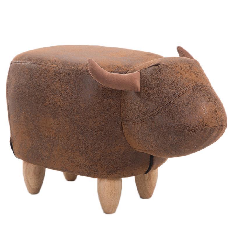 Mignon Animal Style bovins tabourets chaise en bois avec boîte de rangement changement chaussure banc enfant canapé meubles de rangement décor à la maison banc - 6