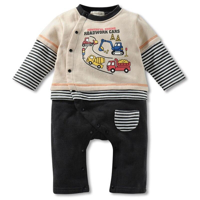 Winter Style Baby Boy Romper Nyfødt Baby Tøj Originalitet Gravemaskine design Tøj Ropa Bebe Børn Rompere HB009