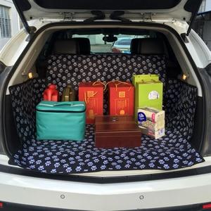 Image 2 - مكافحة القذرة سيارة الحيوانات الأليفة حصيرة القط مخلب نمط 3D الطباعة وسادة للماء أكسفورد القماش لوحة للكلب السيارات حماية بطانية