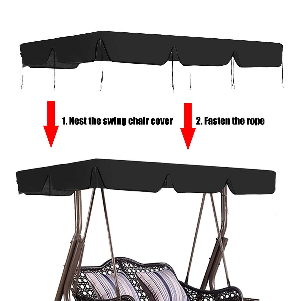 2/3 мест водонепроницаемый качели стул верхняя крышка открытый навес замена сада двора открытый качели защитный тент стул Маскировочная сеть