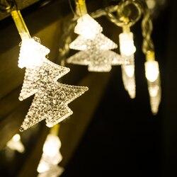 Długość 32.8ft choinka z PVC LED string Dekoracje świąteczne fantazyjne światła na zewnątrz wodoodporny IP46 girlandy świetlne na przyjęcia