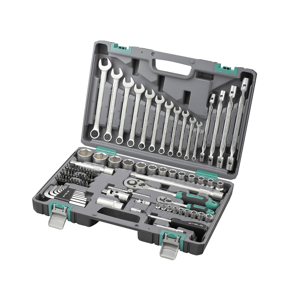 Hand Tool Sets STELS 1/2, 1/4, CrV, plastic case, 88 items 14109 57mm planetary gearbox geared stepper motor ratio 10 1 nema23 l 56mm 3a