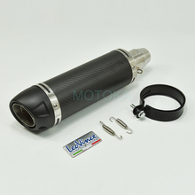 Inlet 51mm Universal Motorcycle Exhaust Pipe For Z900 FZ1 Z1000 GSXR750 Carbon Fiber Slip on Motorbike Silencer With DB Killer