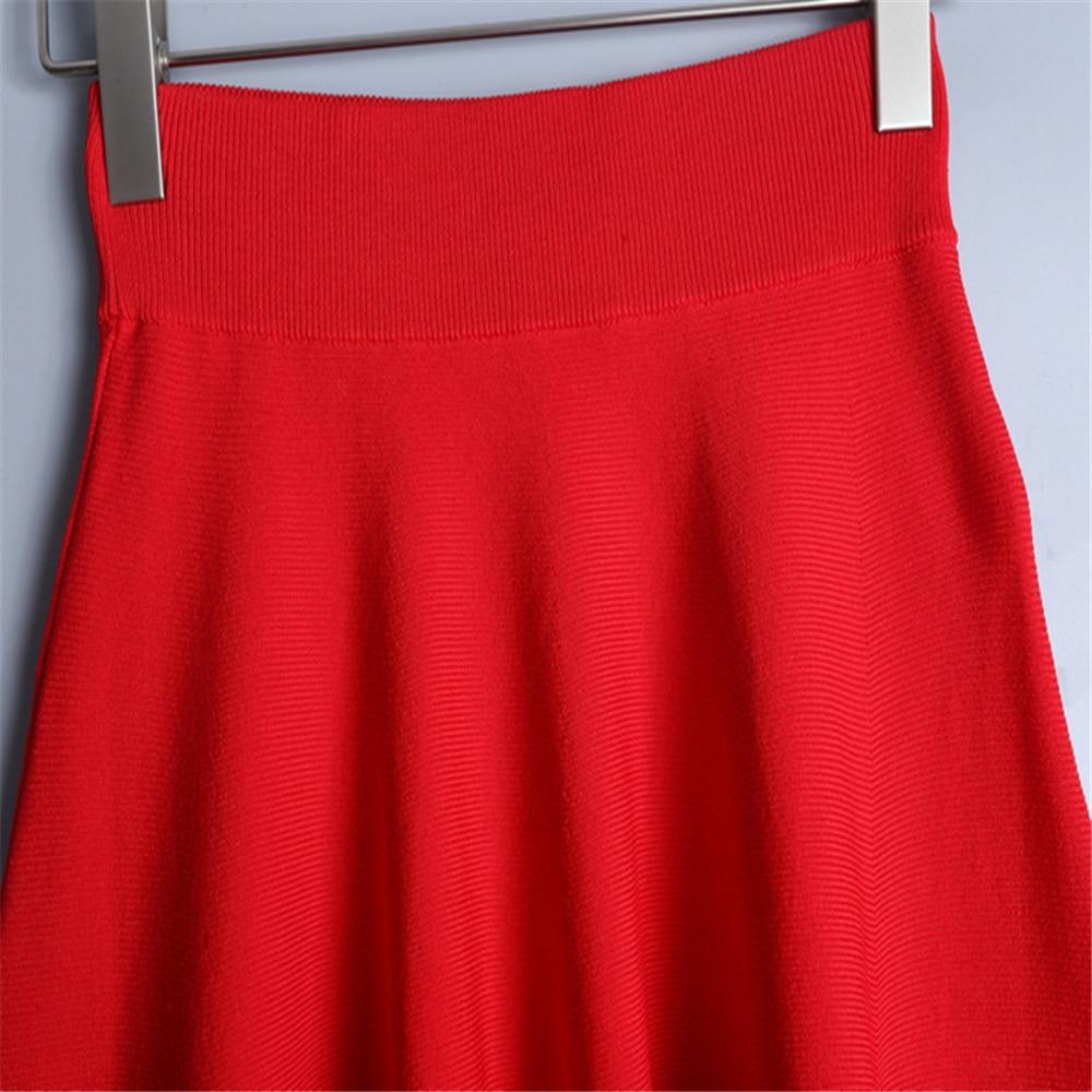 Diseño Agujero De Cintura Calidad Elástico red Mini Verano Nuevo Black Sexy Falda Knit Mujeres Alta Hueco Moda 2019 6rRwp56qx