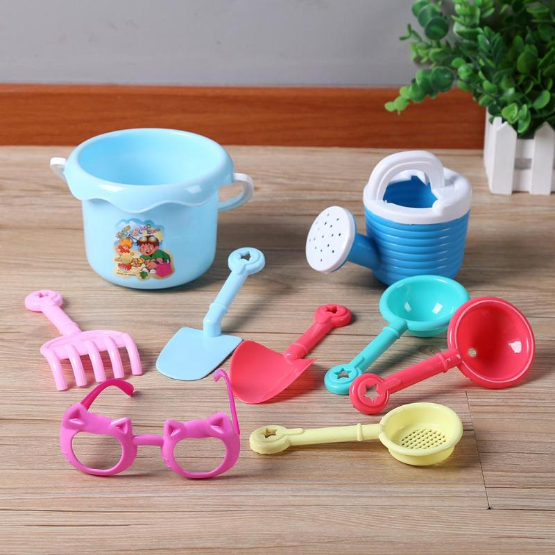 9pcs/set Baby Summer Beach Toys Shower Playing Water Kettle Bucket Beach Sand Play Toys​ Seaside Funny Toys For Children