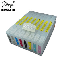 BOMA.LTD 7880 9880 InkJet Refillable Ink Cartridges With Chip And Resetter For EPSON Stylus Pro 7880 9880 Printer