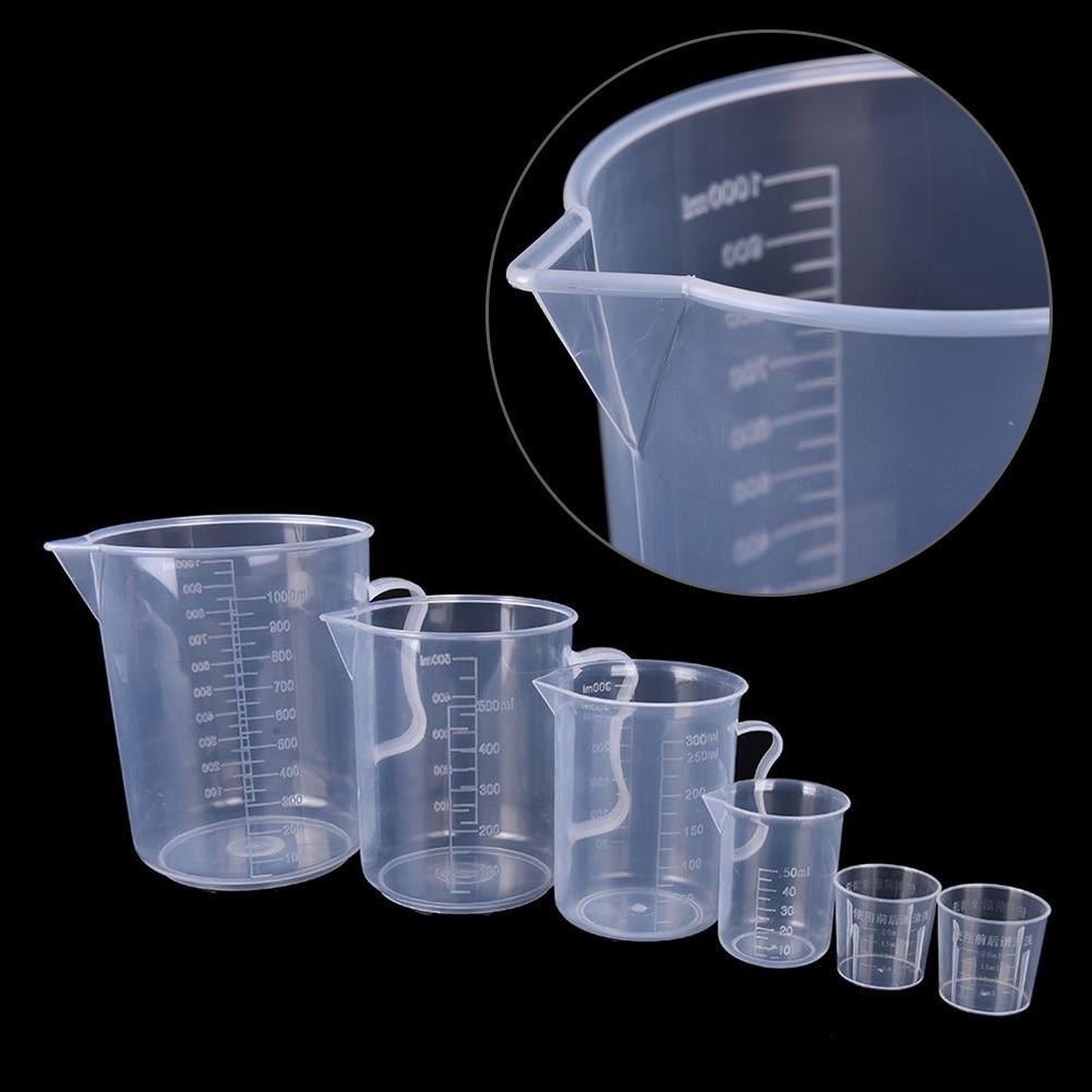 Measuring Jug Cup Graduated Surface Kitchen Laboratory Test Beaker Hot 1 Pcs