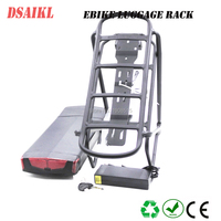 250W 350W 500W rear rack 36V 10.4Ah 11.6Ah 12Ah 13Ah 14Ah 15Ah 16Ah 17.5Ah Korea cells battery pack with ebike carrier rack