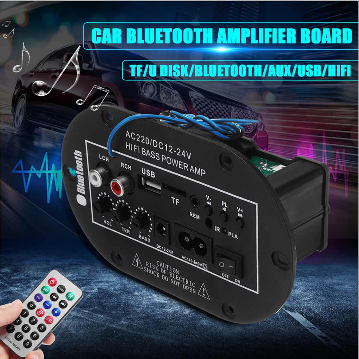 High Power Bluetooth Subwoofer Hi-Fi Bass Amplifier Board For Home And Car MP3
