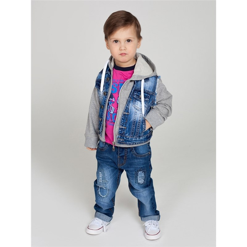 Jackets & Coats Sweet Berry Denim jacket for boys children clothing kid clothes men embroidery patched denim jacket