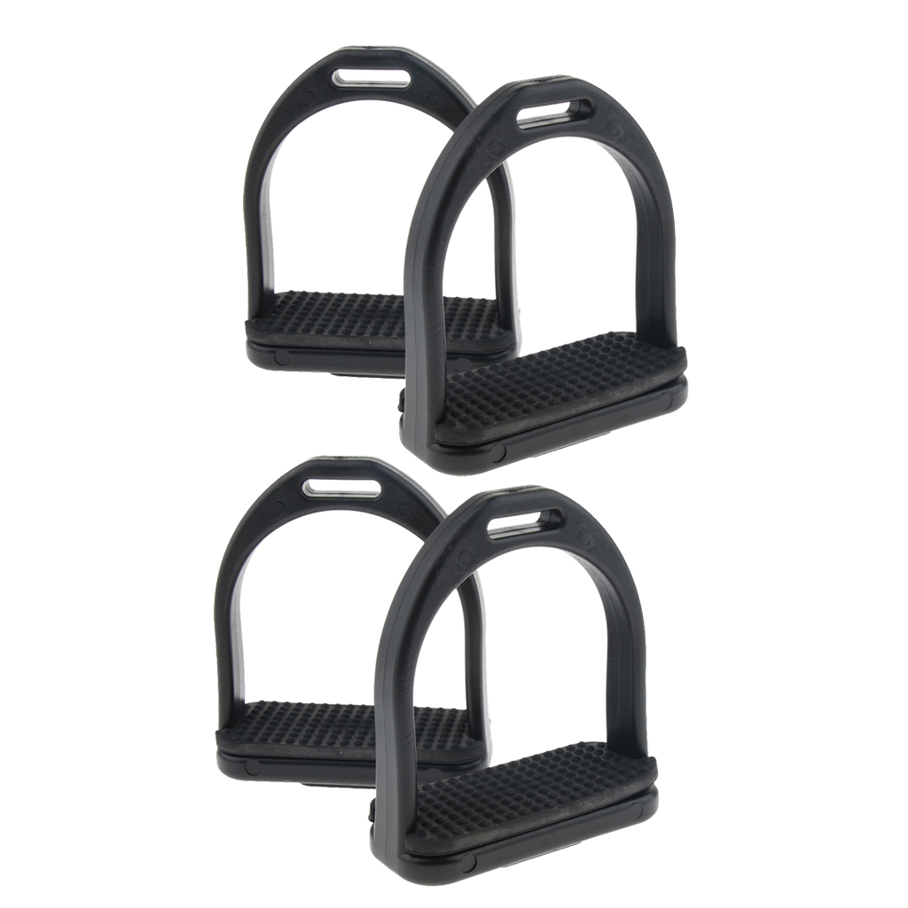 2 Pair Men Women Kid Western Stirrups Horse Riding Equestrian Sport Rubber Treads