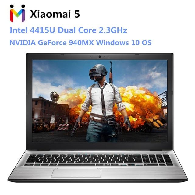 Mai Benben Xiaomai 5 Gaming Laptop 15.6 inch Windows 10 Intel 4415U Dual Core 2.3GHz 4GB RAM 128GB SSD HDMI BT 4.0 Netbook